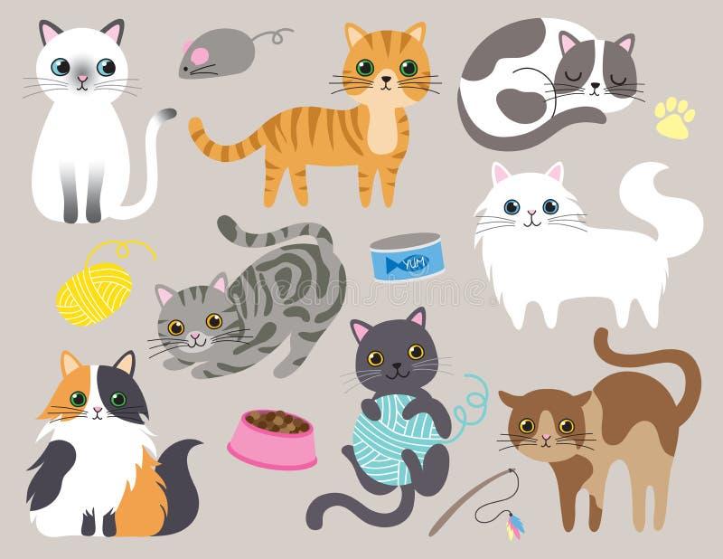 逗人喜爱的全部赌注猫传染媒介例证 皇族释放例证