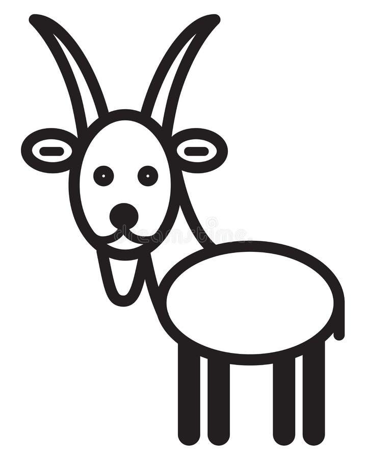 逗人喜爱的动物山羊-例证 皇族释放例证
