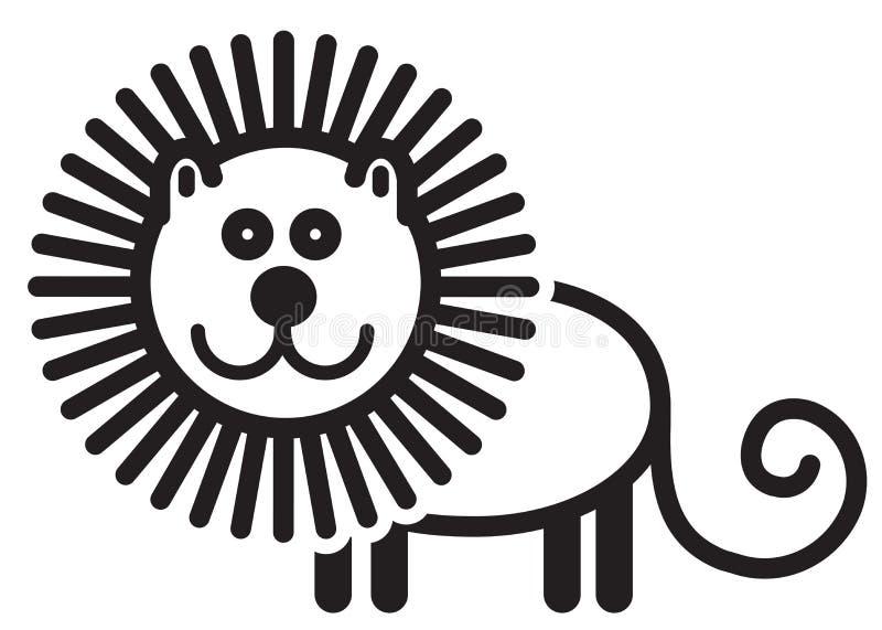 逗人喜爱的动物狮子-例证 向量例证