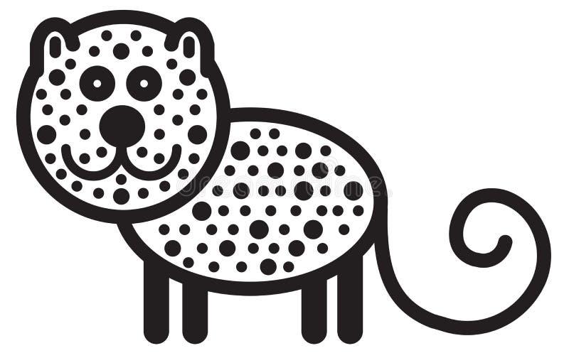 逗人喜爱的动物豹子-例证 向量例证