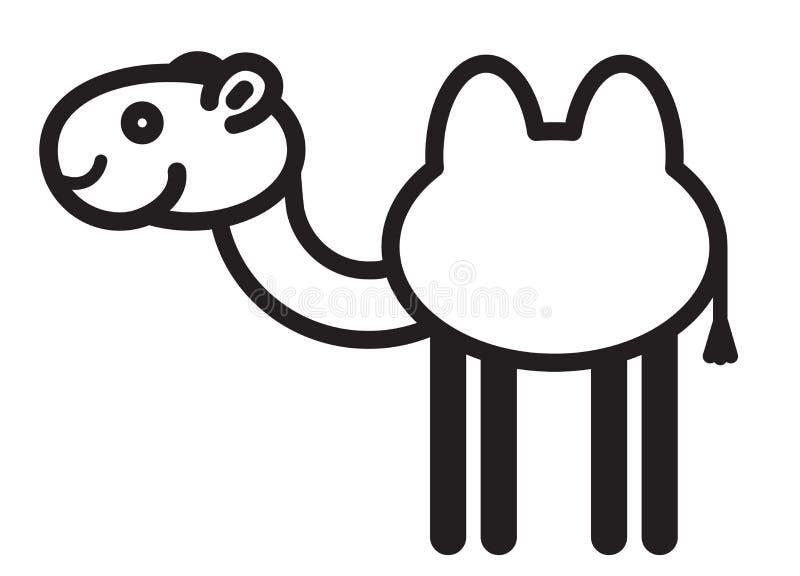 逗人喜爱的动物骆驼-例证 库存例证