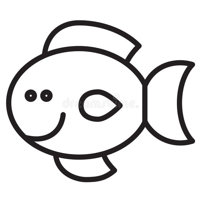 逗人喜爱的动物鱼-例证 库存例证