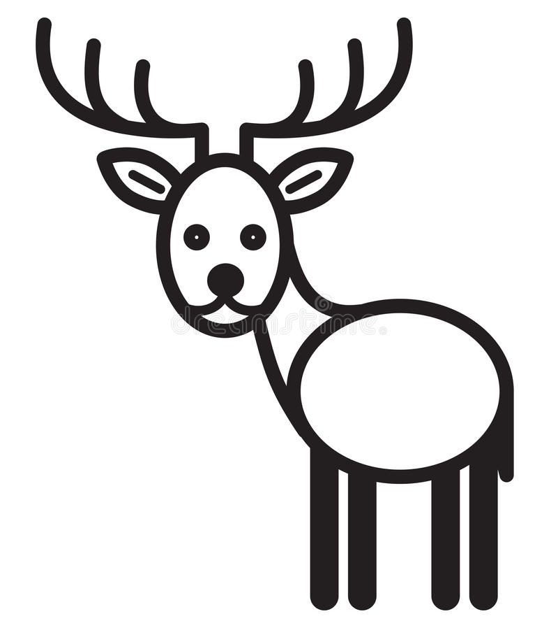 逗人喜爱的动物鹿-例证 向量例证