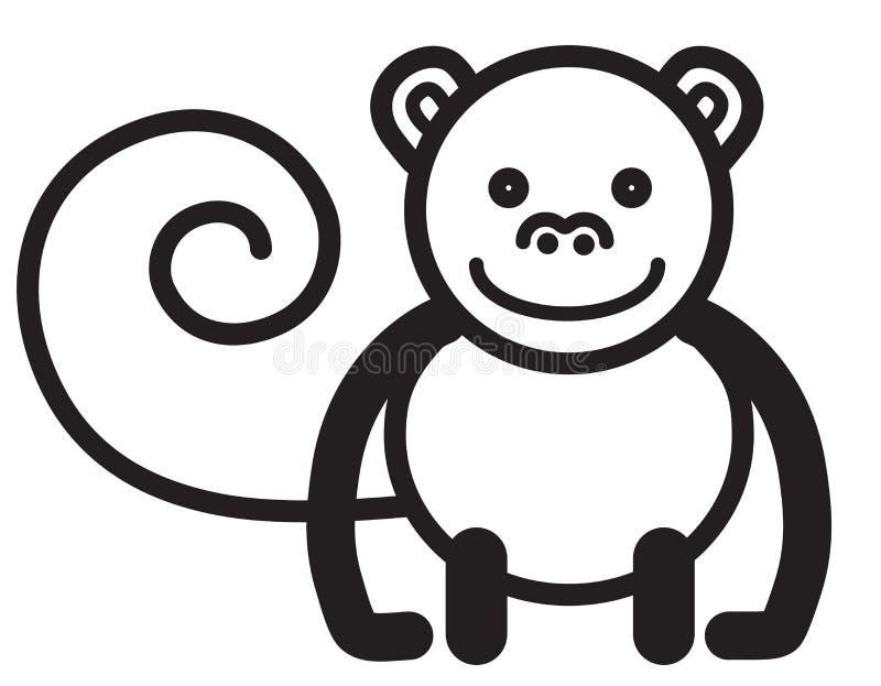 逗人喜爱的动物猴子-例证 皇族释放例证