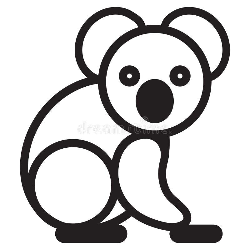 逗人喜爱的动物loala -例证 皇族释放例证