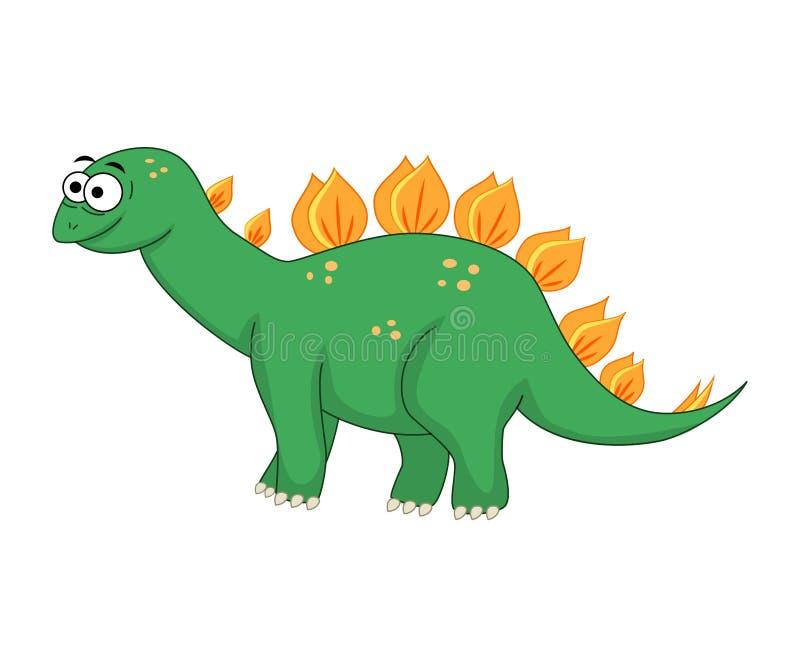 逗人喜爱的动画片剑龙 恐龙isolat的传染媒介例证 向量例证