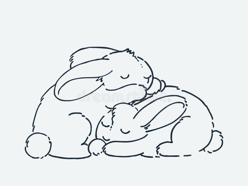逗人喜爱的动画片动物 r 库存例证