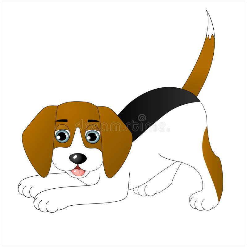 逗人喜爱的动画片小猎犬 库存图片