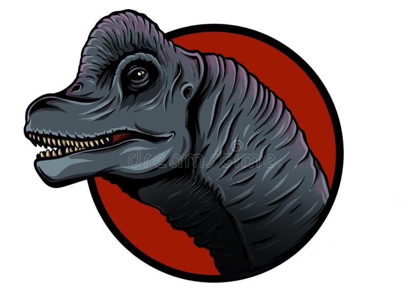 逗人喜爱的动画片恐龙的例证在白色背景的 腕龙的逗人喜爱的简单的例证 皇族释放例证