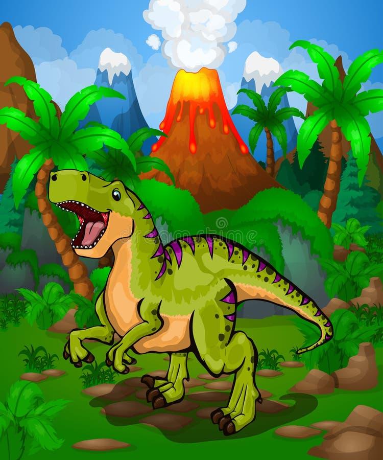 逗人喜爱的动画片恐龙 动画片的传染媒介例证图片