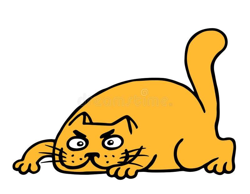逗人喜爱的动画片橙色猫牺牲者 也corel凹道例证向量 向量例证