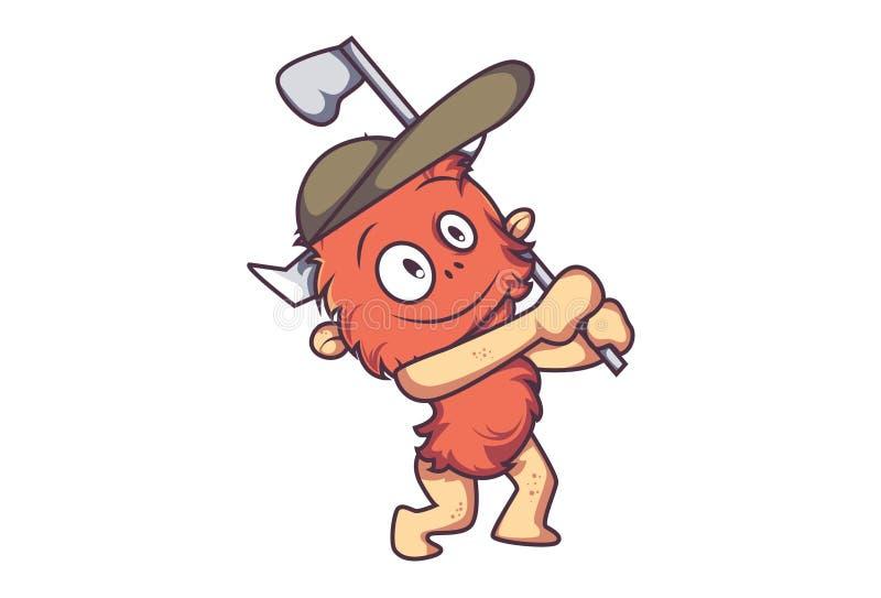 逗人喜爱的动画片毛皮妖怪的例证 库存例证