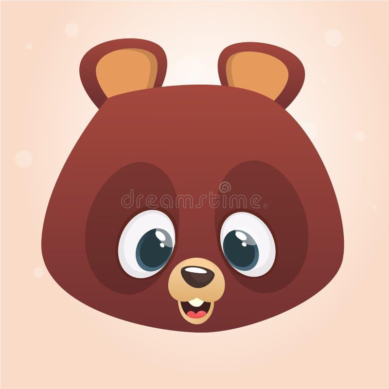 逗人喜爱的动画片熊头象 查出的向量例证 皇族释放例证