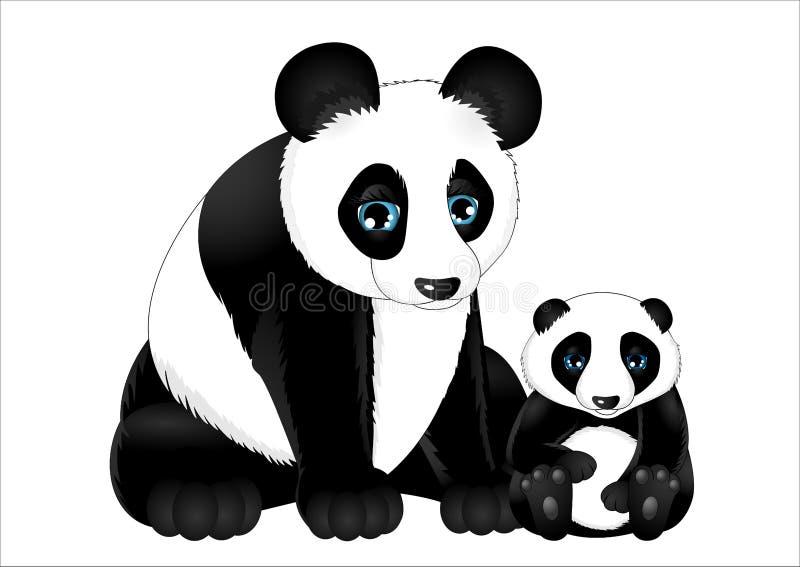 逗人喜爱的动画片熊猫 免版税库存照片