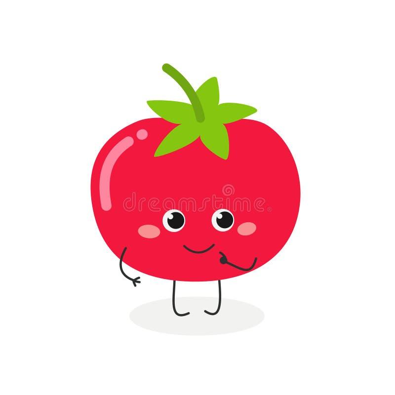 逗人喜爱的动画片蕃茄的传染媒介例证 向量例证