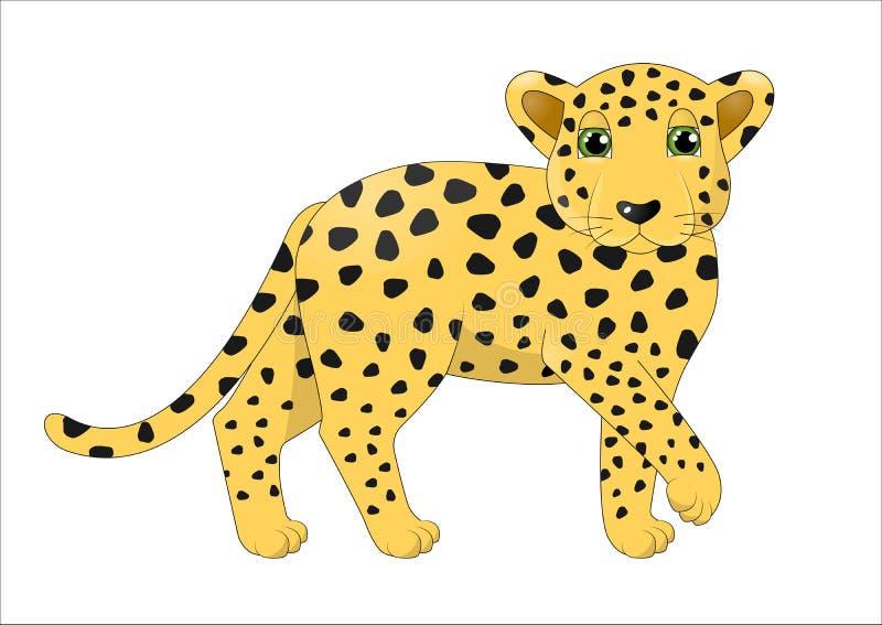 逗人喜爱的动画片豹子 库存例证