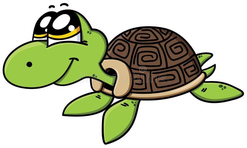 逗人喜爱的动画片乌龟 皇族释放例证