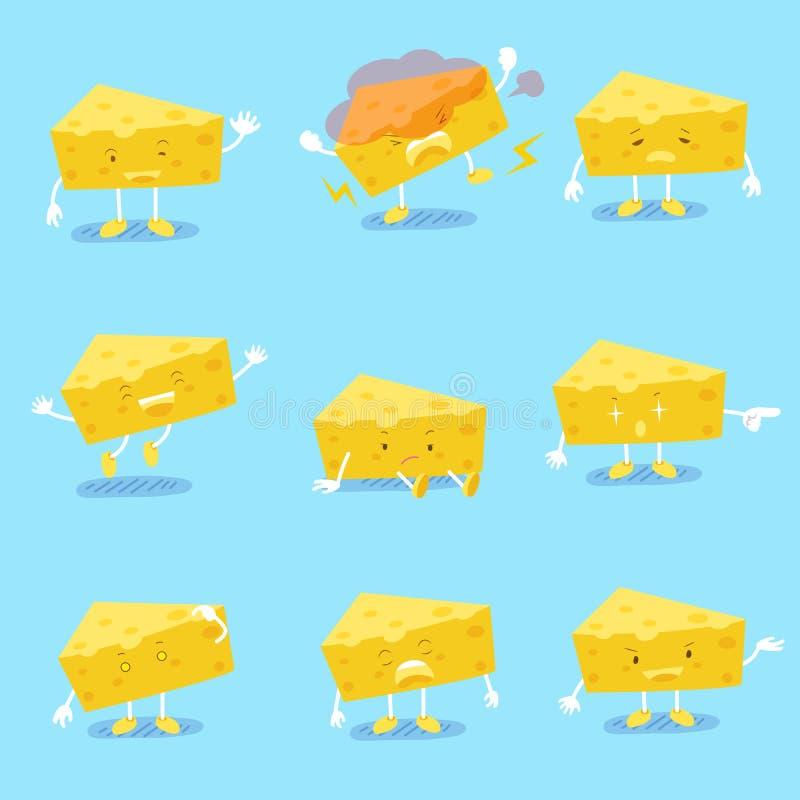 逗人喜爱的动画片乳酪 皇族释放例证