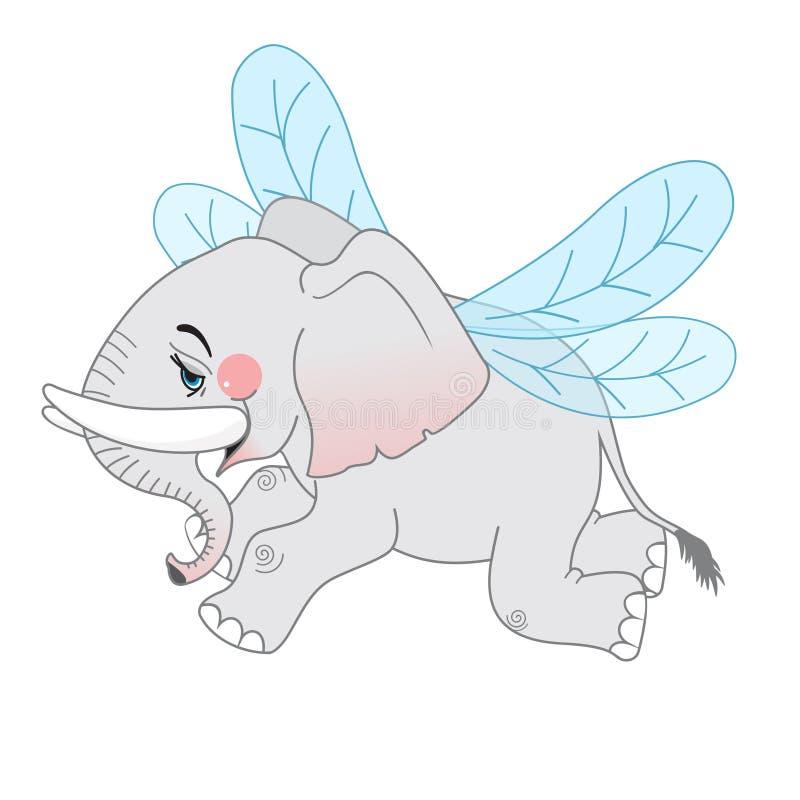 逗人喜爱的动画片大象 库存例证