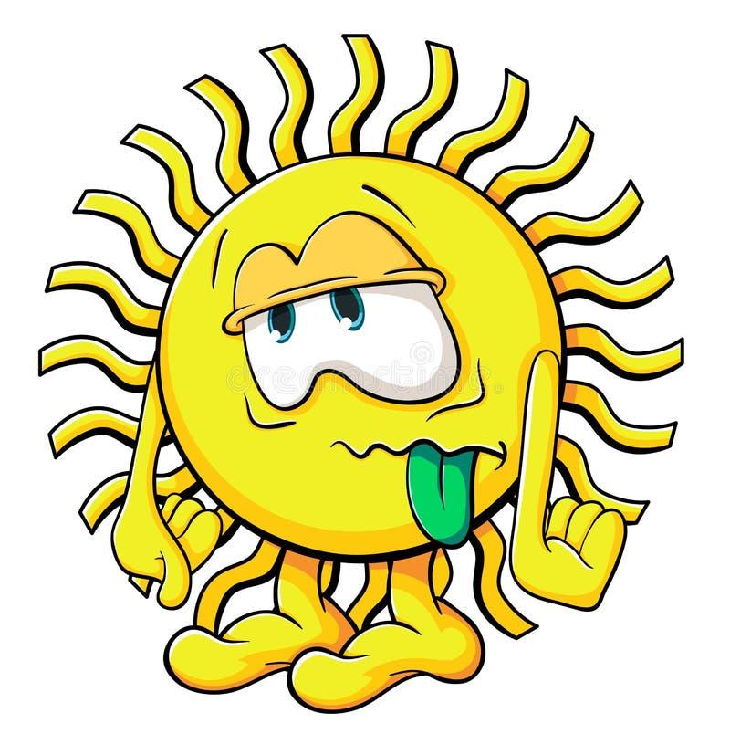 逗人喜爱的动画片太阳 皇族释放例证