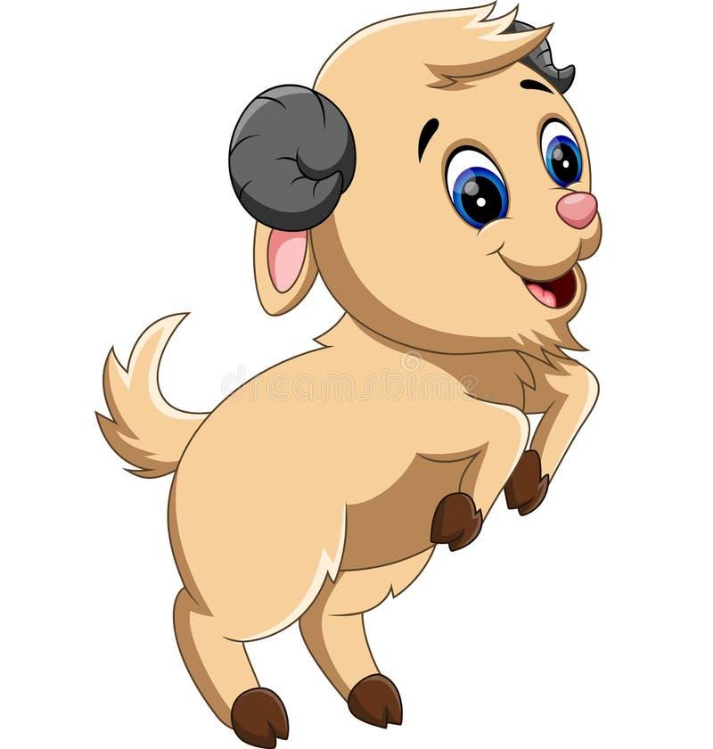 逗人喜爱的动画片山羊 库存例证