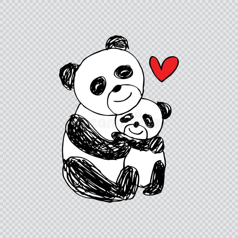 逗人喜爱的动画片熊猫 皇族释放例证