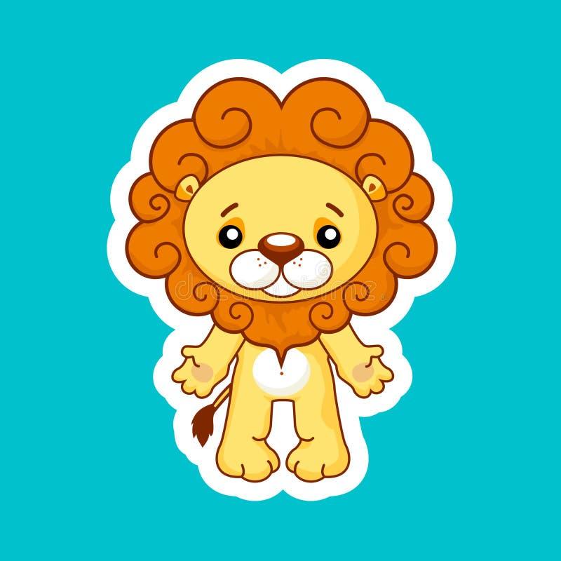 逗人喜爱的动画片狮子 向量例证