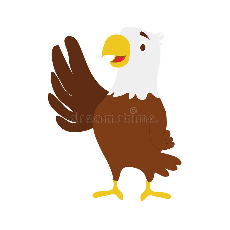 逗人喜爱的动画片老鹰传染媒介例证 向量例证