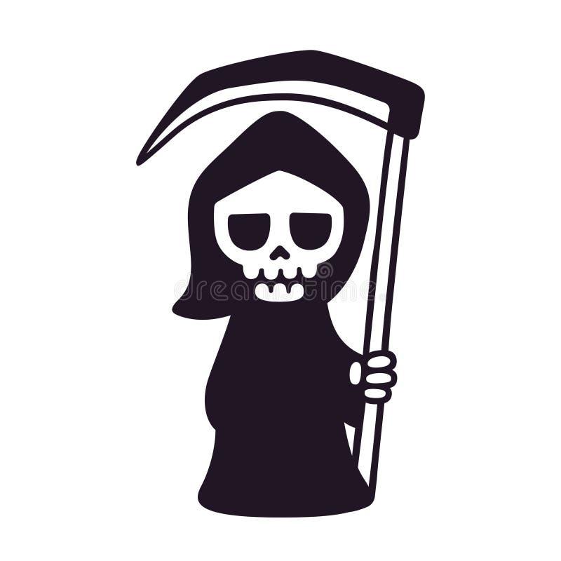 逗人喜爱的动画片死亡 库存例证