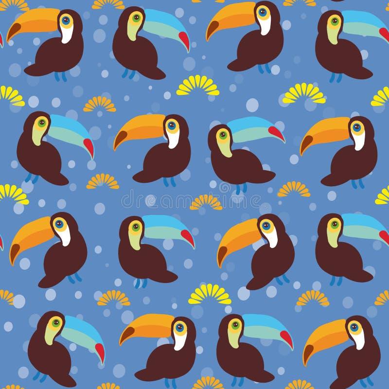 Download 逗人喜爱的动画片toucan鸟在蓝色背景设置了 向量例证. 插画 包括有 平面, 滑稽, 愉快, 双翼飞机 - 59112521