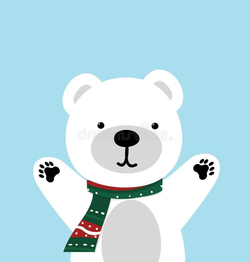 逗人喜爱的北极熊传染媒介 向量例证