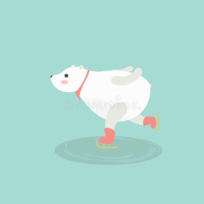 逗人喜爱的北极熊的例证 库存例证