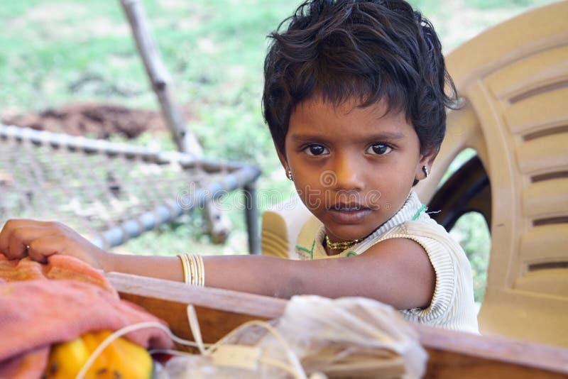 逗人喜爱的印地安小女孩 库存图片