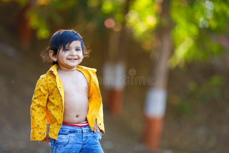 逗人喜爱的印度男婴 库存图片