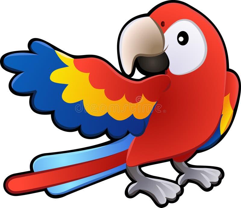 逗人喜爱的友好不适的金刚鹦鹉鹦鹉 皇族释放例证
