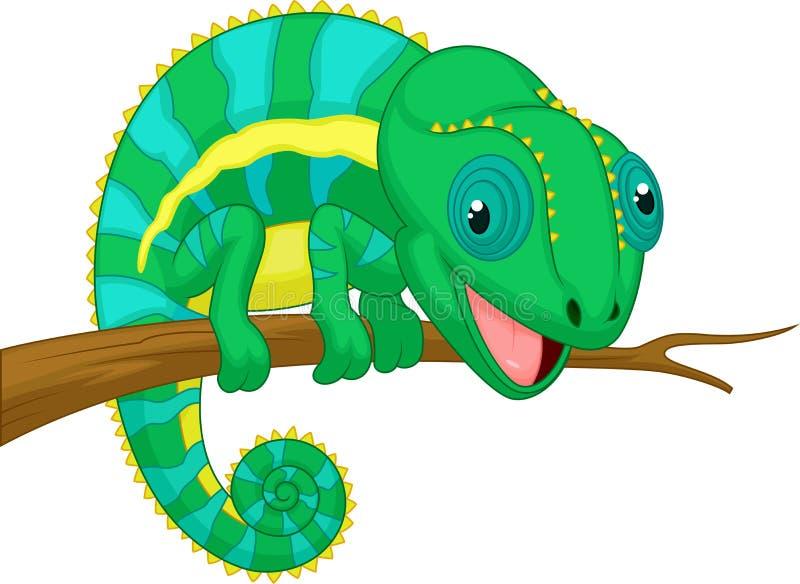 逗人喜爱的变色蜥蜴动画片 皇族释放例证
