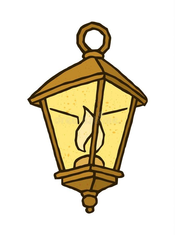 逗人喜爱的古板的灯笼 库存例证