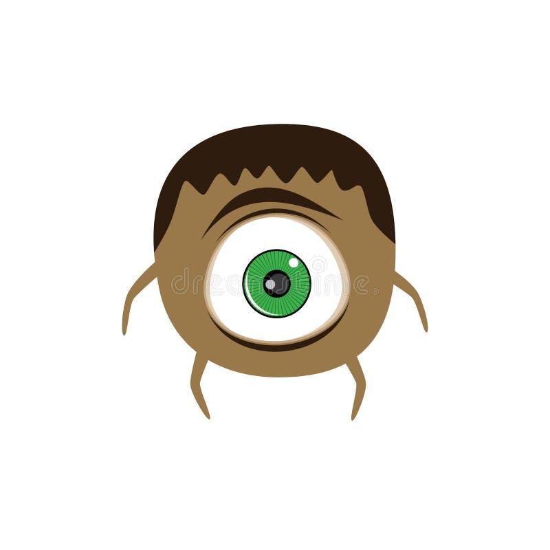 逗人喜爱的可爱的可怕妖怪动画片虚构人物 皇族释放例证
