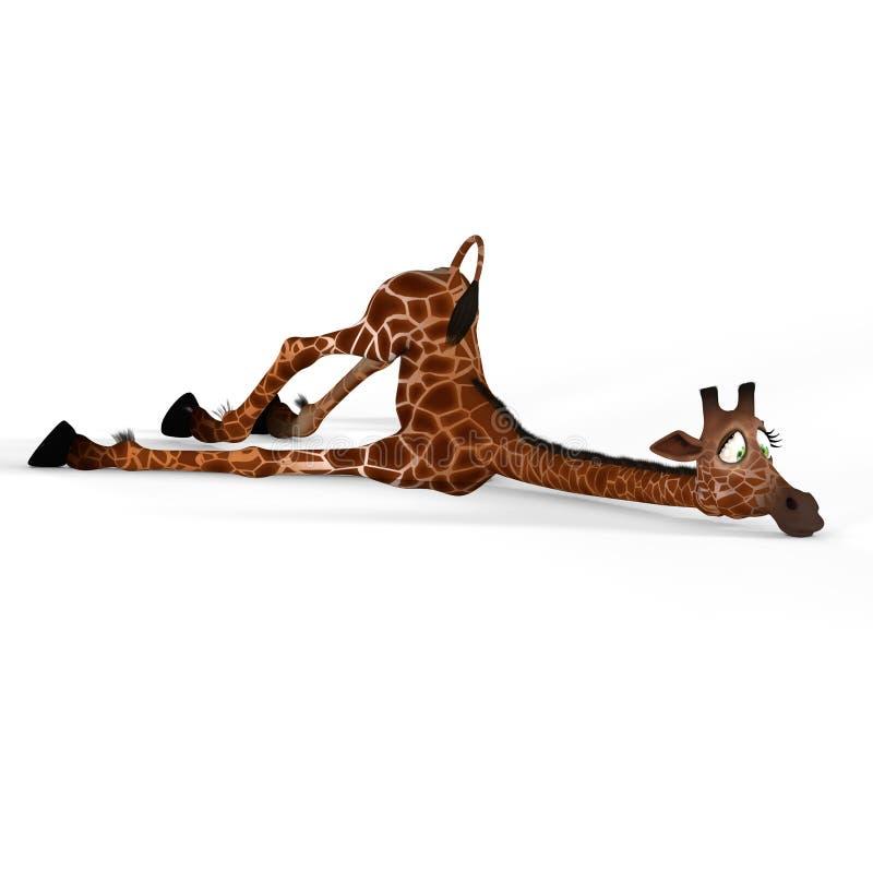 逗人喜爱的可爱表面滑稽的长颈鹿 向量例证