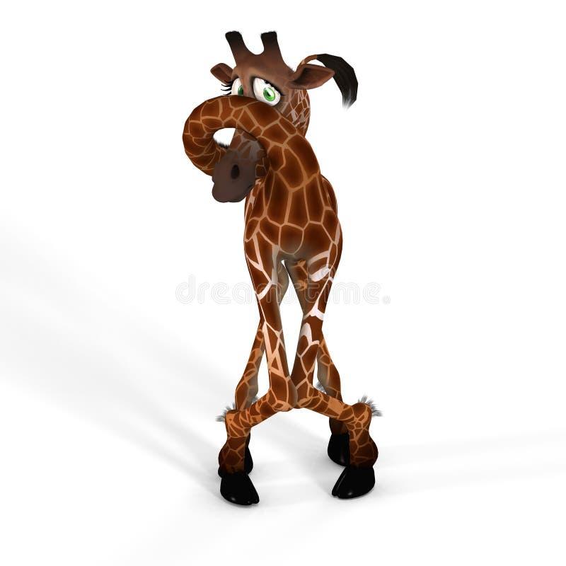 逗人喜爱的可爱表面滑稽的长颈鹿 库存例证