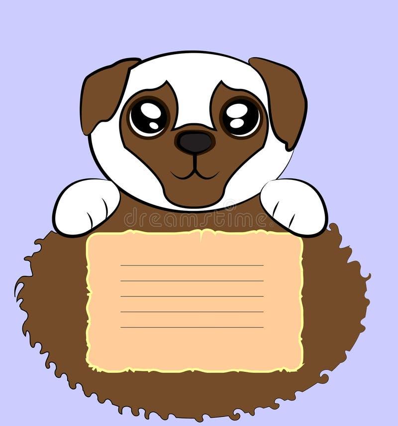 逗人喜爱的哈巴狗 免版税库存照片
