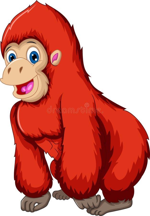 逗人喜爱的大猩猩动画片 向量例证