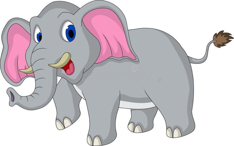 逗人喜爱的大象动画片 皇族释放例证