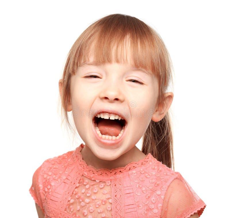 逗人喜爱的女孩一点 免版税库存照片