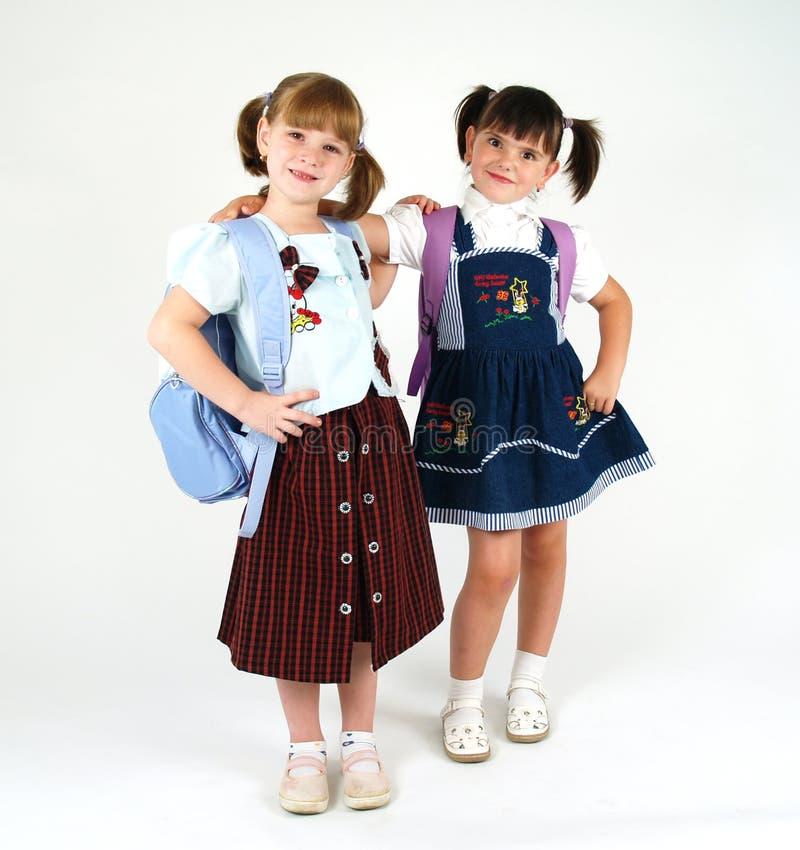 逗人喜爱的女孩学校 库存照片