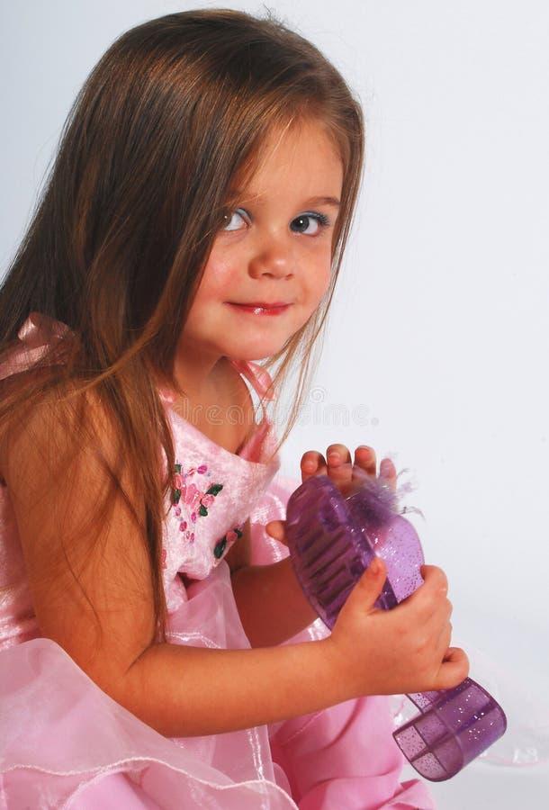 逗人喜爱的女孩少许鞋子 库存图片