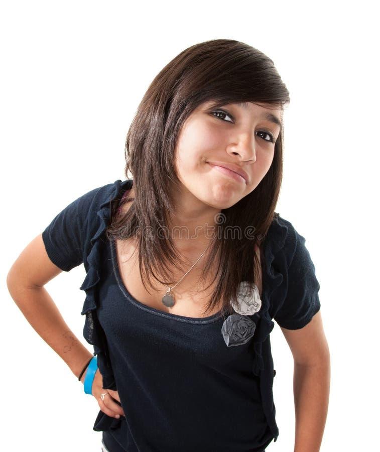 逗人喜爱的女孩拉丁美洲人 免版税库存照片
