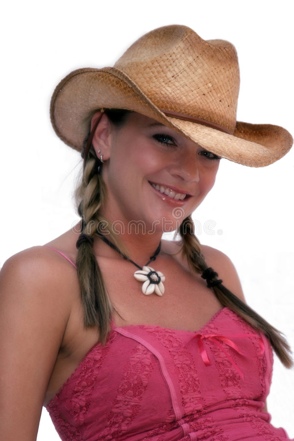 逗人喜爱的女牛仔 图库摄影