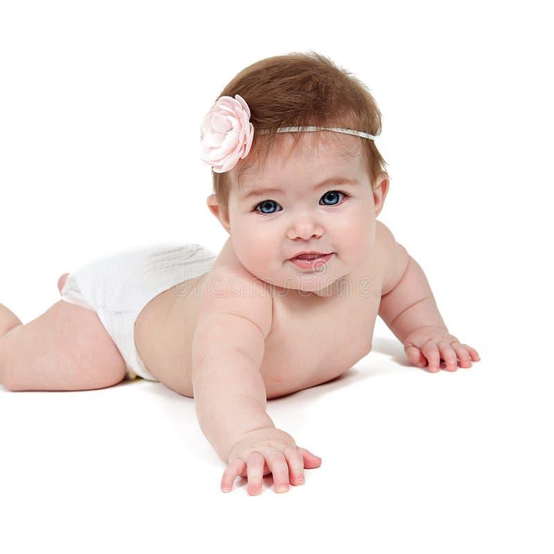 逗人喜爱的女婴 免版税库存图片
