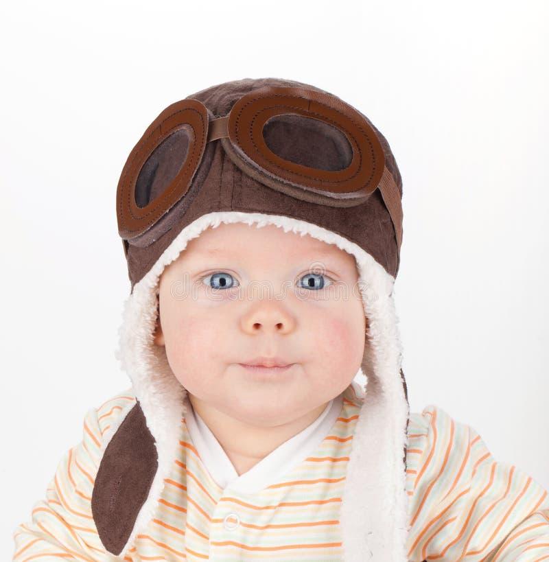 逗人喜爱的婴孩特写镜头纵向  库存照片